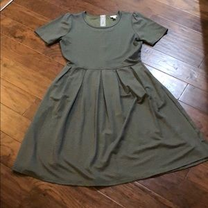 Lularoe Striped Amelia Dress